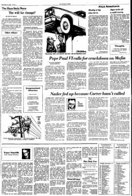 The Hays Daily News from Hays, Kansas on December 13, 1976 · Page 4