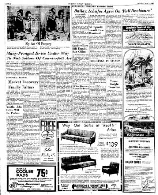 Tucson Daily Citizen from Tucson, Arizona on May 13, 1967 · Page 6