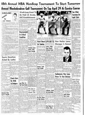 Eureka Humboldt Standard from Eureka, California on April 7, 1962 · Page 8