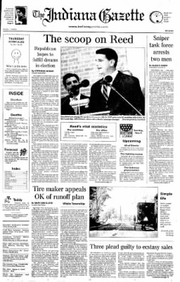 Indiana Gazette from Indiana, Pennsylvania on October 24, 2002 · Page 1
