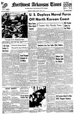 Northwest Arkansas Times from Fayetteville, Arkansas on April 19, 1969 · Page 1