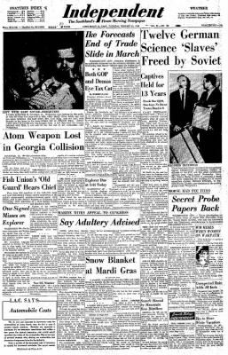Independent from Long Beach, California on February 13, 1958 · Page 1