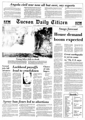Tucson Daily Citizen from Tucson, Arizona on February 11, 1976 · Page 1