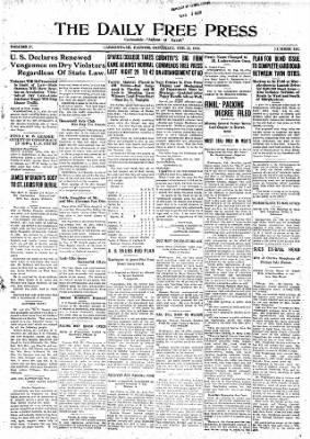 The Daily Free Press from Carbondale, Illinois on February 28, 1920 · Page 1