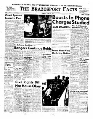 The Brazosport Facts from Freeport, Texas on June 18, 1957 · Page 1