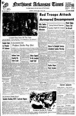 Northwest Arkansas Times from Fayetteville, Arkansas on April 25, 1969 · Page 1