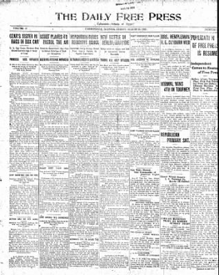 The Daily Free Press from Carbondale, Illinois on March 19, 1920 · Page 1