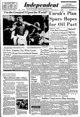 Independent from Long Beach, California on February 26, 1964 · Page 1