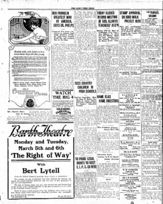 The Daily Free Press from Carbondale, Illinois on April 3, 1920 · Page 3