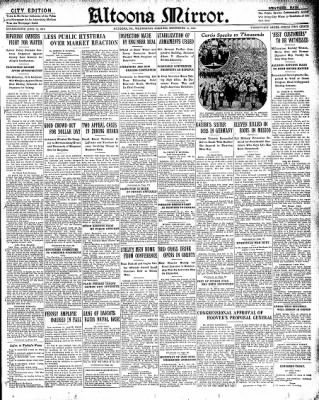 Altoona Mirror from Altoona, Pennsylvania on November 13, 1929 · Page 1