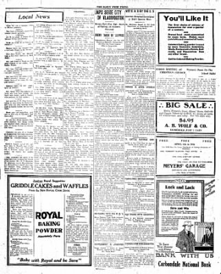 The Daily Free Press from Carbondale, Illinois on April 7, 1920 · Page 4