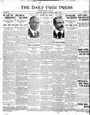 The Daily Free Press from Carbondale, Illinois on April 8, 1920 · Page 1