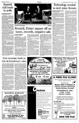 Indiana Gazette from Indiana, Pennsylvania on October 30, 2002 · Page 3