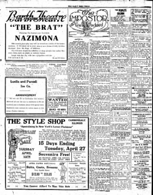 The Daily Free Press from Carbondale, Illinois on April 12, 1920 · Page 3