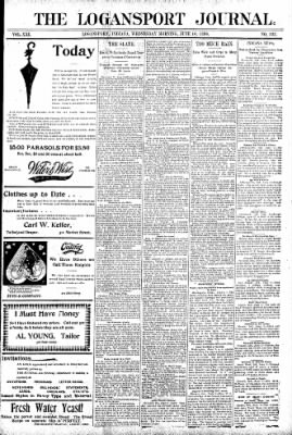 Logansport Pharos-Tribune from Logansport, Indiana on June 10, 1896 · Page 1