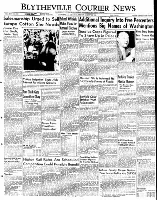 The Courier News from Blytheville, Arkansas on August 12, 1949 · Page 1