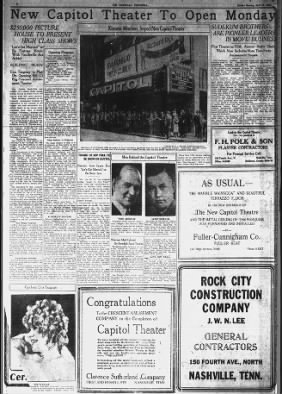 Capitol theatre opening