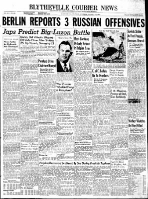 The Courier News from Blytheville, Arkansas on January 13, 1945 · Page 1