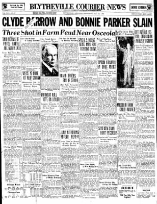 The Courier News from Blytheville, Arkansas on May 23, 1934 · Page 1