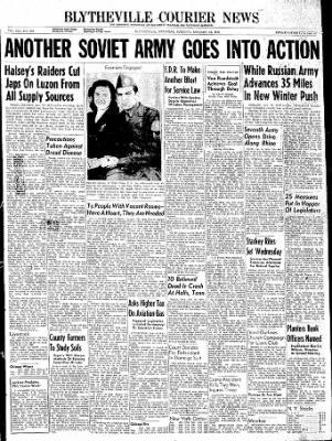 The Courier News from Blytheville, Arkansas on January 16, 1945 · Page 1