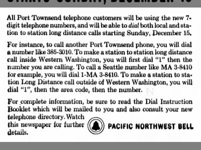 Clip of the Day: 7-Digit Phone Numbers Start Soon in Washington
