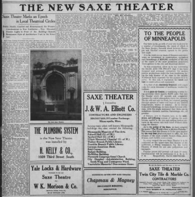 Saxe Theatre opening