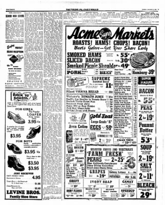 Tyrone Daily Herald From Tyrone Pennsylvania On August 23 1946