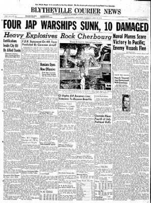The Courier News from Blytheville, Arkansas on June 22, 1944 · Page 1