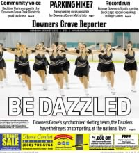 Sample Downers Grove Reporter front page