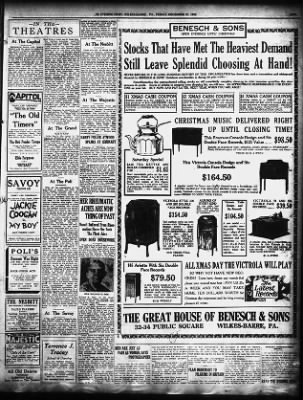 The Evening News from Wilkes-Barre, Pennsylvania on December 22, 1922 · Page 9