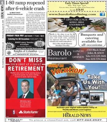 Herald News from Joliet, Illinois on August 26, 2015 · Page 6