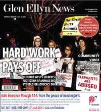Sample The Glen Ellyn News front page