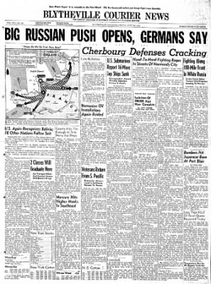 The Courier News from Blytheville, Arkansas on June 23, 1944 · Page 1