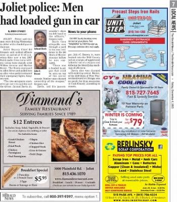 Herald News from Joliet, Illinois on December 4, 2015 · Page 7