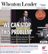 Sample The Wheaton Leader front page