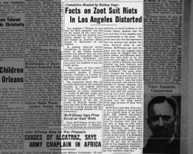 Former commissioner says Zoot Suit Riots were misrepresented by the press
