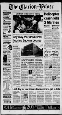 Clarion-Ledger from Jackson, Mississippi on January 21, 2002
