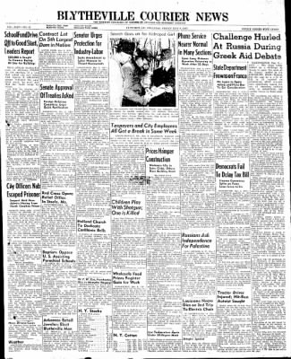 The Courier News from Blytheville, Arkansas on May 9, 1947 · Page 1