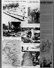 Map and images of the Battle of the Bulge