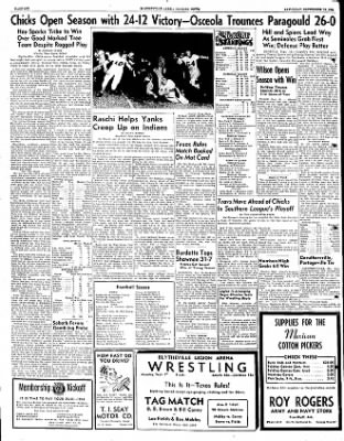 The Courier News from Blytheville, Arkansas on September 15, 1951 · Page 6
