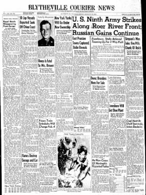 The Courier News from Blytheville, Arkansas on January 26, 1945 · Page 1