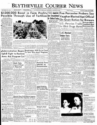 The Courier News from Blytheville, Arkansas on August 20, 1949 · Page 1