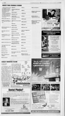 Green Bay Press Gazette From Green Bay Wisconsin On November 23 2006 Page 33