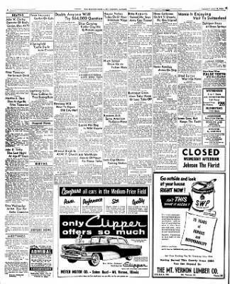 mt vernon register news from mt vernon illinois on july 19 1955 Sports Cars mt vernon register news from mt vernon illinois on july 19 1955 page 2