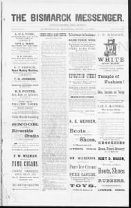 Sample Bismarck Messenger front page