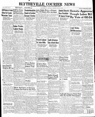 The Courier News from Blytheville, Arkansas on May 13, 1947 · Page 1
