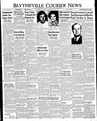The Courier News from Blytheville, Arkansas on May 28, 1949 · Page 1