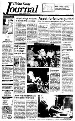 Ukiah Daily Journal from Ukiah, California on December 13, 1993 · Page 1