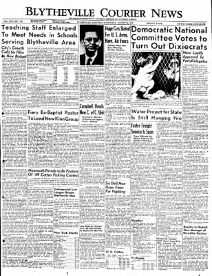 The Courier News from Blytheville, Arkansas on August 24, 1949 · Page 1