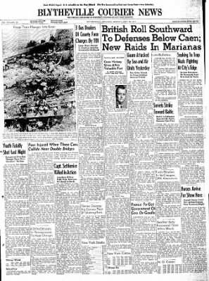 The Courier News from Blytheville, Arkansas on July 10, 1944 · Page 1